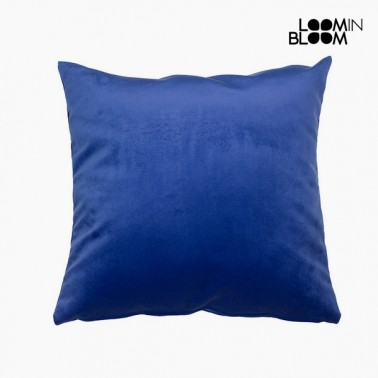 Coussin Polyester Bleu (45 x 45 x 10 cm) by Loom In Bloom