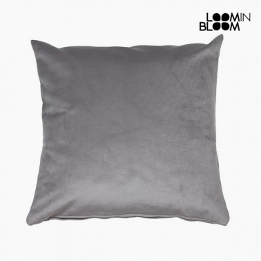 Coussin Polyester Gris (45 x 45 x 10 cm) by Loom In Bloom